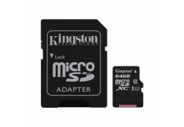 Thẻ Nhớ MicroSDXC Kingston Canvas Select 64GB 80MB/s Class10 U1 SDCS/64GB